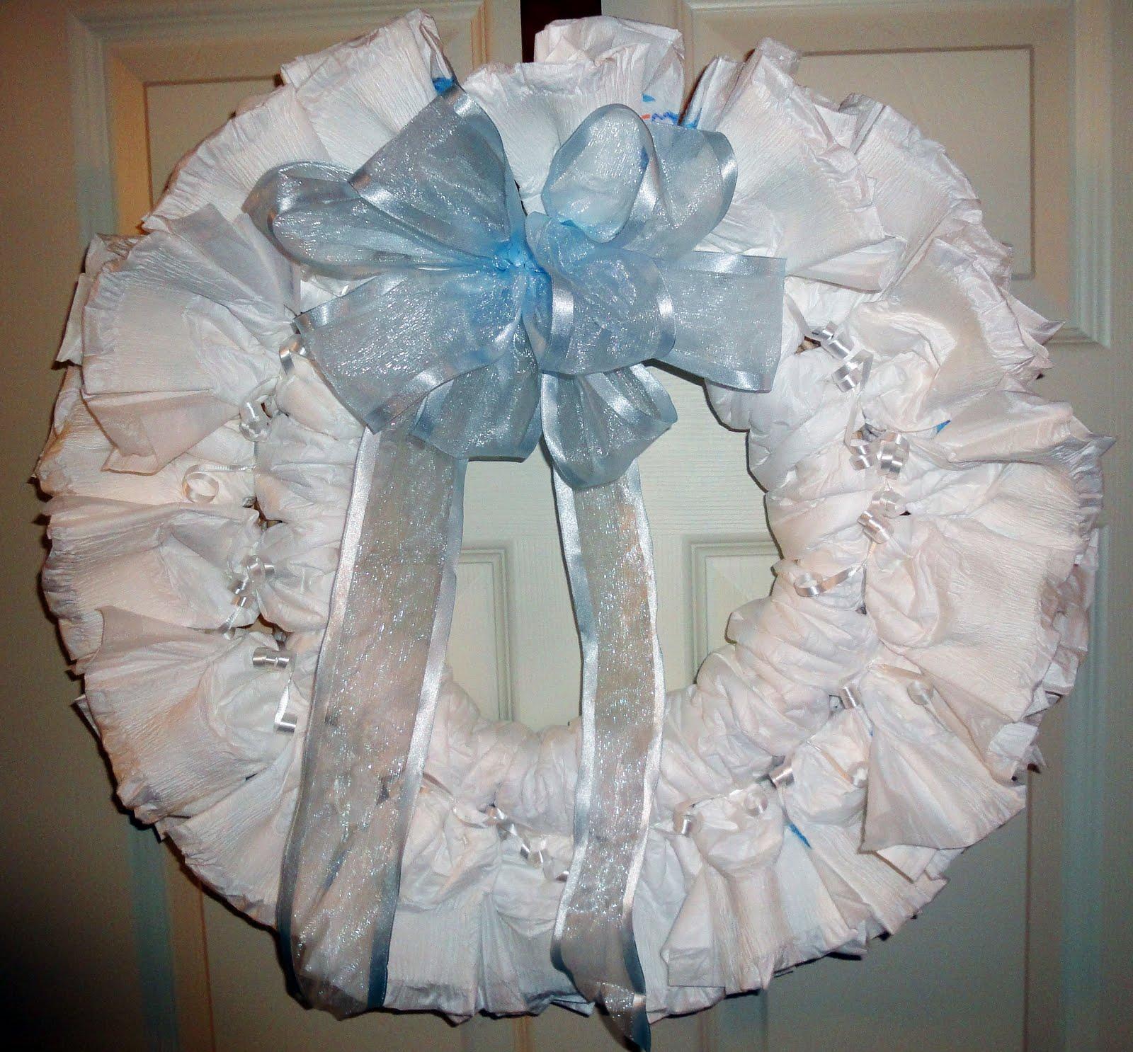 Diaper Cake Wreath