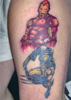 tattoos designs superhero tattoo on your leg as iron man. Black Bedroom Furniture Sets. Home Design Ideas