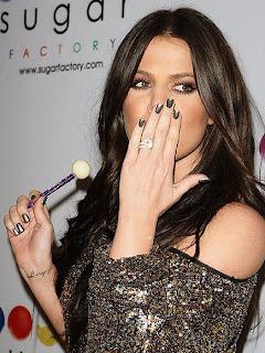 Khloe Kardashian's gunmetal manicure