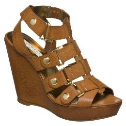Cynthia Vincent for Target Brown Gladiator Wedge