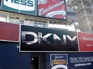 DKNY billboard at Yankee Stadium