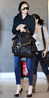 charlize theron at the airport