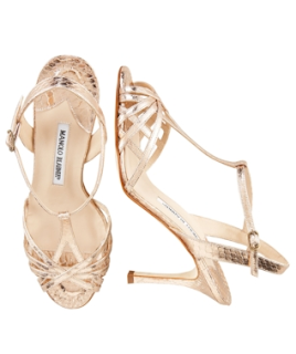Manolo Blahnik gold stilleto