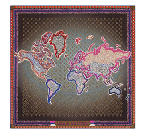 louis vuitton monogram map square