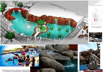 Rocas artificiales rocas artificiales y cascadas para for Cascadas artificiales para piscinas