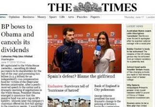 thetimes Sara Carbonero culpable de la derrota de España