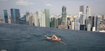 Piscina de altura en Singapur