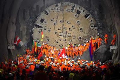 tunel suizo 6 El tunel más largo del mundo