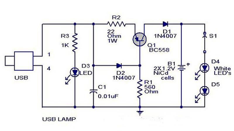Creative USB Circuit Lamp Design