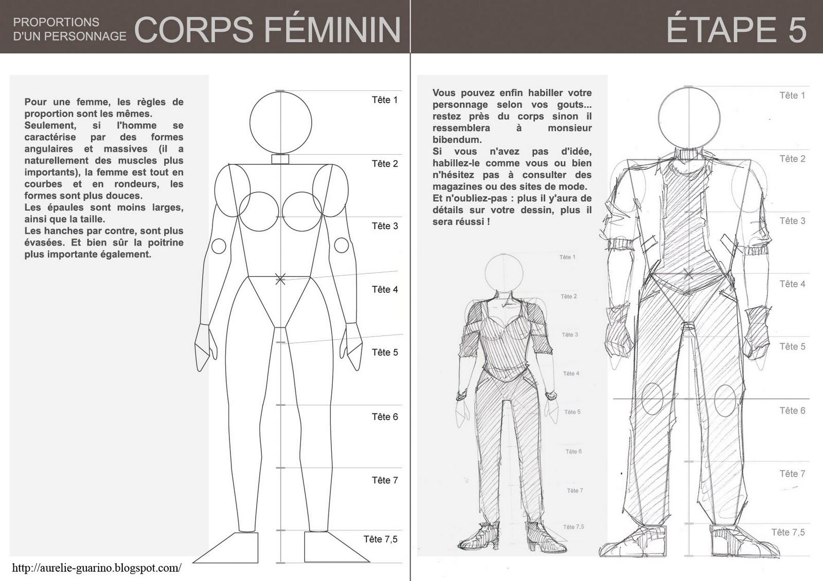 Célèbre Petit cours technique de dessin : personnage et proportions  HA39