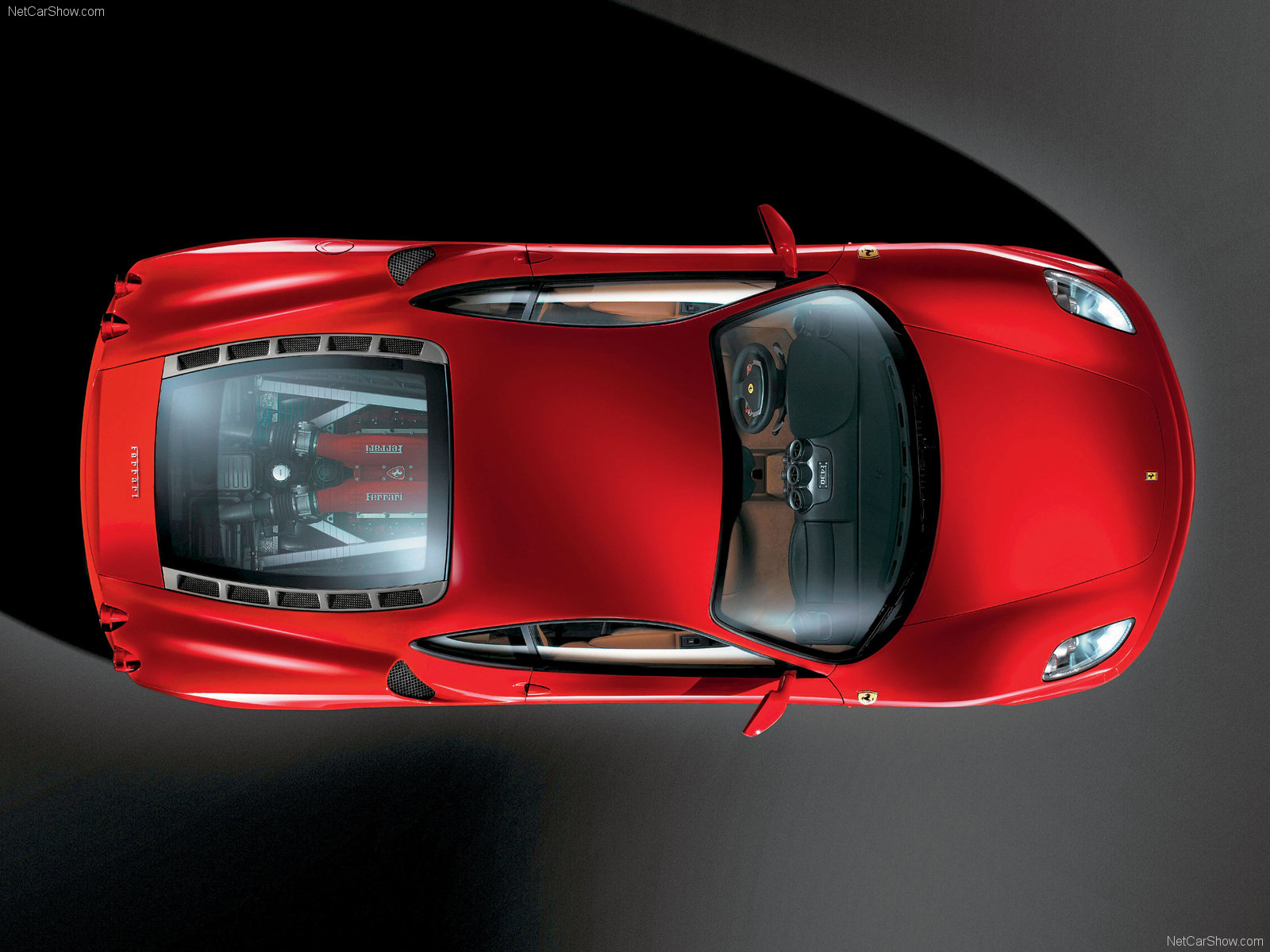 Ferrari 458 Italia Top View high resolution widescreen (1600 x 1200 )