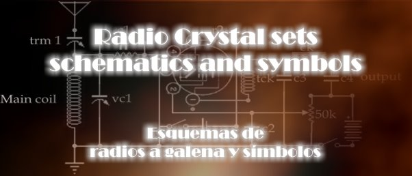 Radio crystal set schematics