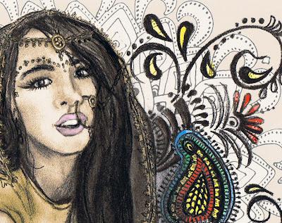 paisley tattoo. paisley and henna designs