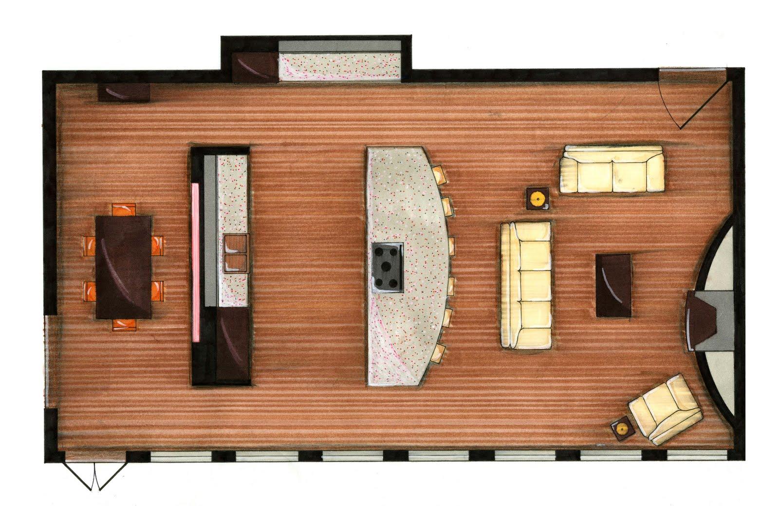 Greg hickman designs november 2009 for Rendered floor plan