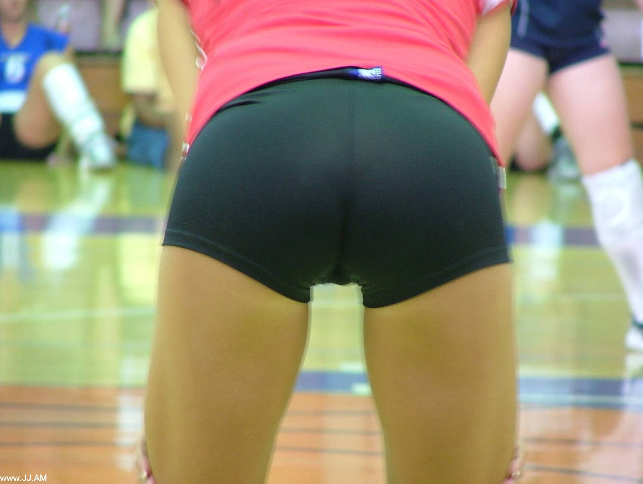 Girls volleyball shorts big butts for