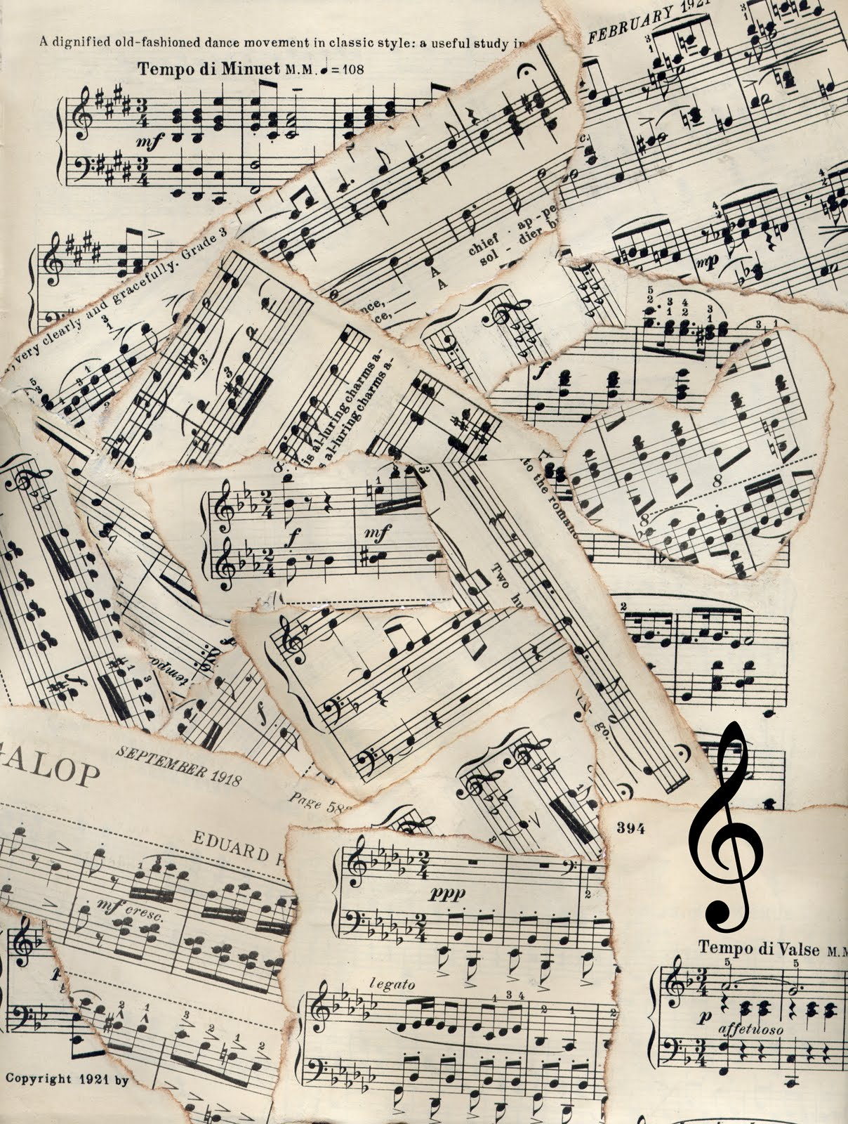 Twitter Backgro... Vintage Music Twitter Backgrounds