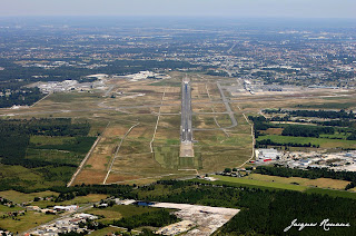 photo aerienne aeroport de Bordeaux Merignac