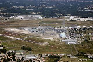 vue aérienne aérogare Bordeaux Mérignac