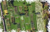 vue aerienne jardin botanique de Bordeaux