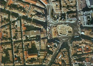 Vue aerienne fouilles archeologiques Bordeaux
