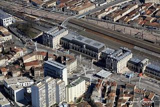 vue aerienne de la gare Saint Jean de Bordeaux