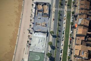 Vue aérienne du roller skate parc de Bordeaux