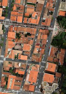 Vue aérienne verticale d'Arcachon