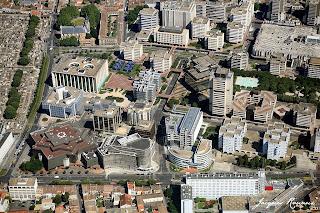 Vue aerienne du quartier Mériradeck à Bordeaux