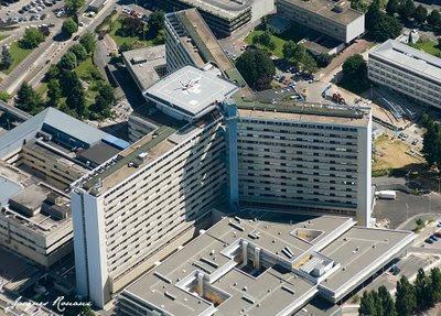 Vue aérienne de l'hopital Pellegrin de Bordeaux