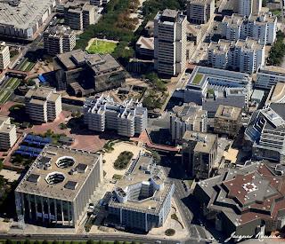 Vue aérienne du quartier de Mériadeck à Bordeaux