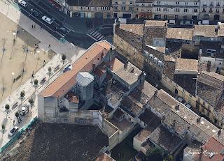 Vue aérienne du chantier de la Place Paul Doumer à Bordeaux