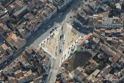 Photo aérienne de la Place Paul Doumer à Bordeaux