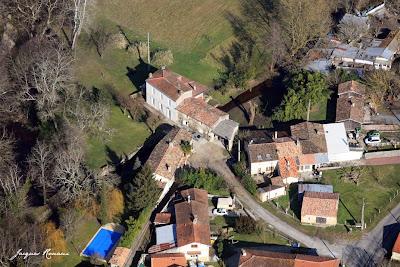 Vue aérienne du Lieu dit Lacanau à Saint Selve