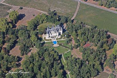 Photo aérienne du château Pichon
