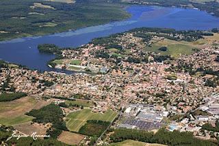 Vue aérienne du lac de Soustons