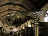 Fred Hoyle's childhood telescope on display in the Old Library