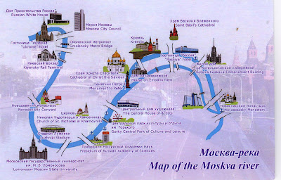 Map of the moskva river