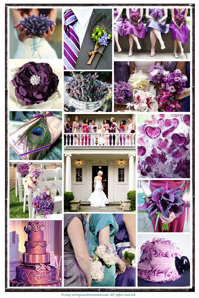 Custom Inspiration Board Peacock Themed Wedding