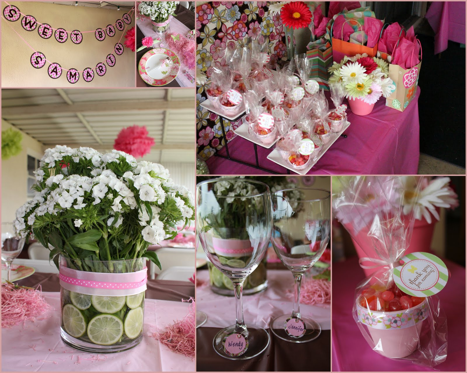 Girl baby shower themes party favors ideas for Baby party decoration