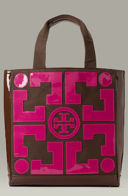 Tory Burch 'Lux T' Canvas Tote