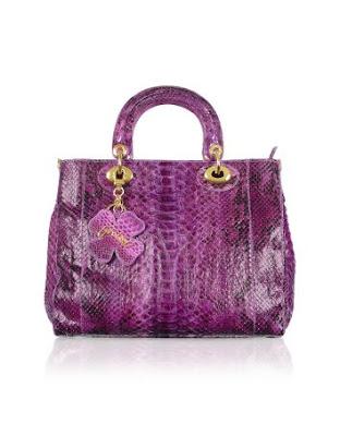 Purple Python Tote Bag by Ghibli