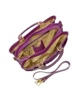 Purple Python Tote Bag by Ghibli - inside view