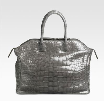 Zagliani Small Tomodachi Crocodile Tote