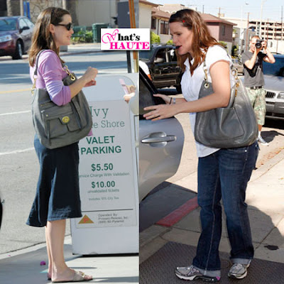 Jennifer Garner with Hamptons Vintage Leather Hobo