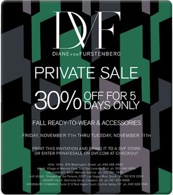 Diane Von Furstenburg Private Sale