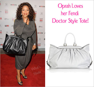Oprah Winfrey with the Fendi Doctor Style Tote