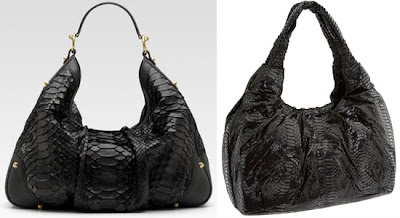 Gucci Large Jockey Python Hobo Bag vs. Perlina Snake Embossed Pleated Satchel What's Haute
