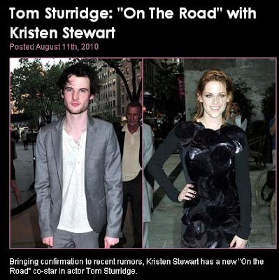 Sturridge  Kristen Stewart on Ontheroadmoviefans  Tom Sturridge   On The Road  With Kristen Stewart