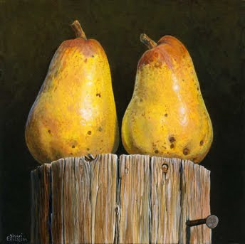 Pear painting by Shari Erickson