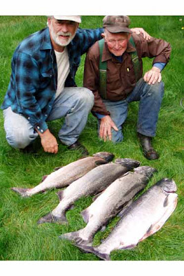 Dad and Ray with fish